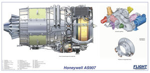 Honeywell AS907 Cutaway Poster