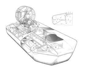 Hovermarine Hoverscout Cutaway Drawing