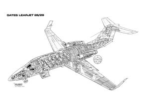 Learjet 28/29 Cutaway Drawing