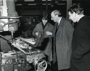 Lord Breswick visiting the machine shop