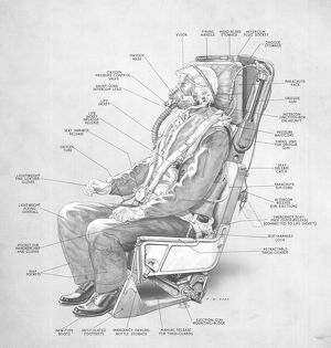 Martin Baker MK 1 Ejector Seat Cutaway Drawing