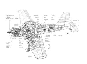 Percival P56 Piston Provost Cutaway Drawing