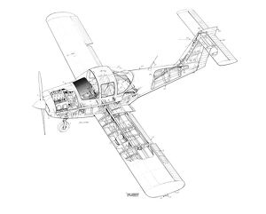 Piper PA-38 Tomahawk Cutaway Drawing