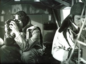 RAF Aircrew (observers) carrying out surveillance operation
