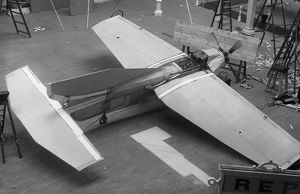 The R.E.P. monoplane on display at the 1909 Olympia Aero Show