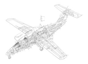 RFB AT1-2 fantrainer Cutaway Drawing