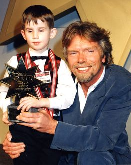 Richard Branson and Daily Star Gold award winner seven year old Nicholas Killen