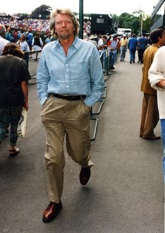 Richard Branson takes a stroll