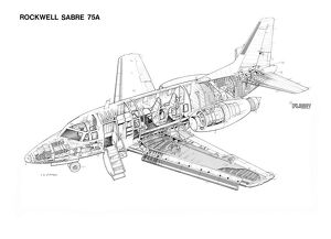 Rockwell Sabre 75A Cutaway Drawing