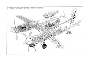 Scaled Composites Pond Racer Cutaway Drawing
