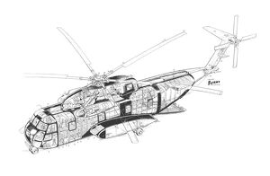 Sikorsky CH-3A Cutaway Drawing