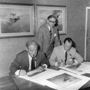 Sir Douglas Bader, Frank Wootton, and Wing Commander Bob Standford-Tuck