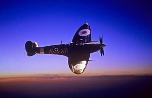 Supermarine Spitfire sunset
