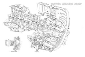 Textron Lycoming LF 507F Cutaway Drawing
