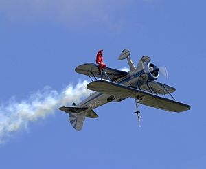Wing Walking on Boeing Stearman